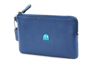 Coach Pac-man Limited Edition Wristlet in Denim Blue