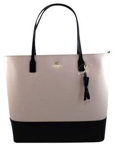 Kate Spade Leather Tori Sawyer Street Black Tote in Gray