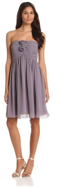 Item - Grey Ridge Polyester Hallie Traditional Bridesmaid/Mob Dress Size 4 (S)