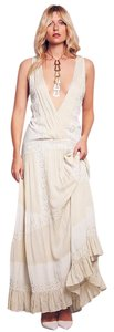 Maxi Dress by Free People Oberoi Sz Small Creme Detailing