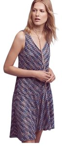 Anthropologie short dress purple Westwater Knit Drop Waist on Tradesy