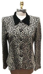 Armani Collezioni And Unique Vintage Top Black/White Leopard print