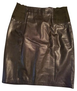 Pía rucci Leather Skirt Black