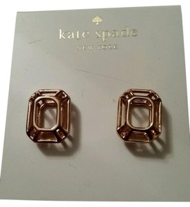 Kate Spade Kate Spade Rose Gold Tone Freeze Frame earrings NEW