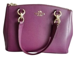 Coach Christie Crossbody Swingpack Signature Satchel in Plum