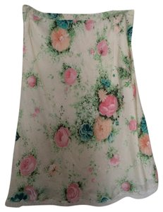 Paul & Joe Silk Floral Skirt Multi