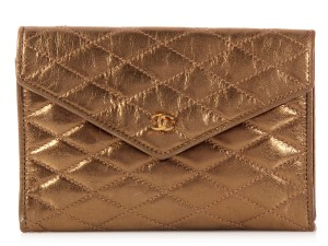 Chanel Quilted Vintage Ch.k0929.08 Metallic Clutch