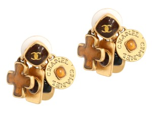 Chanel Golden Charm Earrings