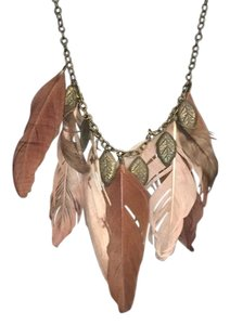 Anthropologie Feathered necklace