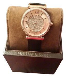 Michael Kors Michael Kors Caitlin design Rose Gold Tone and Pave crystals watch NEW