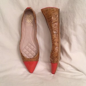 Vince Camuto Cork Tan Orange Flats