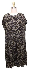 Étoile Isabel Marant short dress Brown and Black Leopard Print Crepe Leopard Over Sized on Tradesy