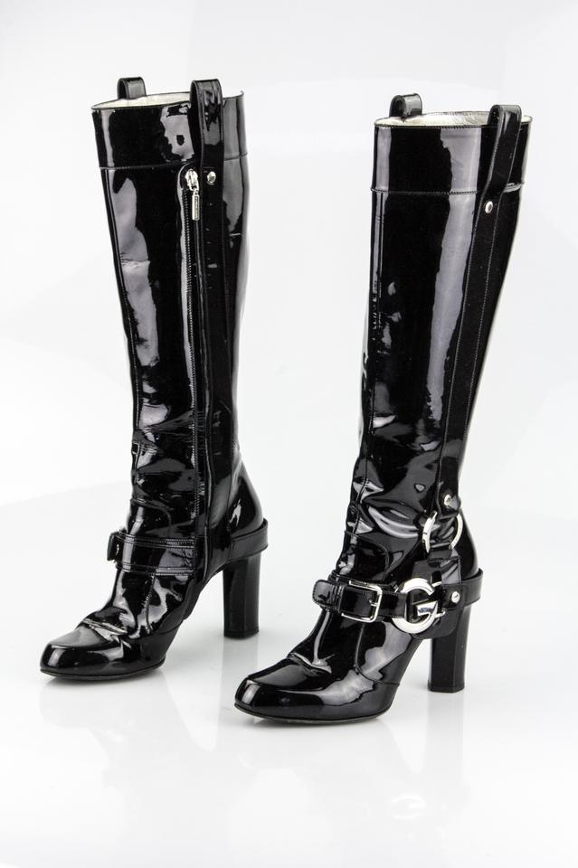 Patent Buckle amp;Gabbana Booties G Black Dolce Tall Boots pBFvxFqw