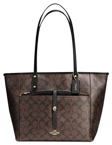 Coach Satchel F34103 36876 Tote in GOLD/BROWN/black