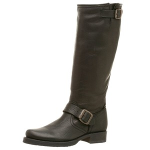 Frye Leather Leather Veronica Black Boots