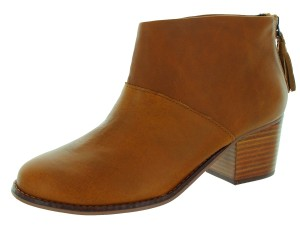 TOMS Leila Warm Tan Leather Boots