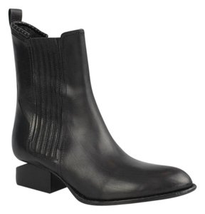 Alexander Wang Leather Italian Cut-out Chelsea Black Boots