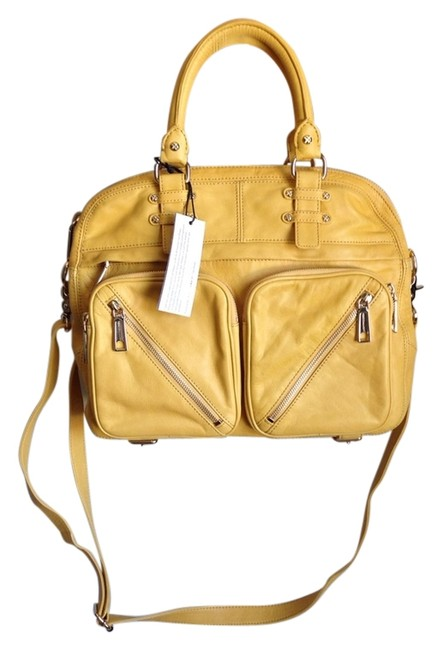 Item - Paramour Yellow Leather Cross Body Bag