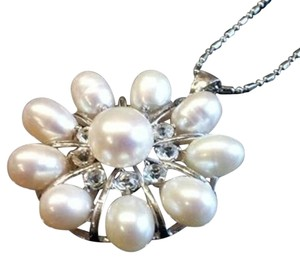 Other White Freshwater & Akoya Pearl Pendant Necklace