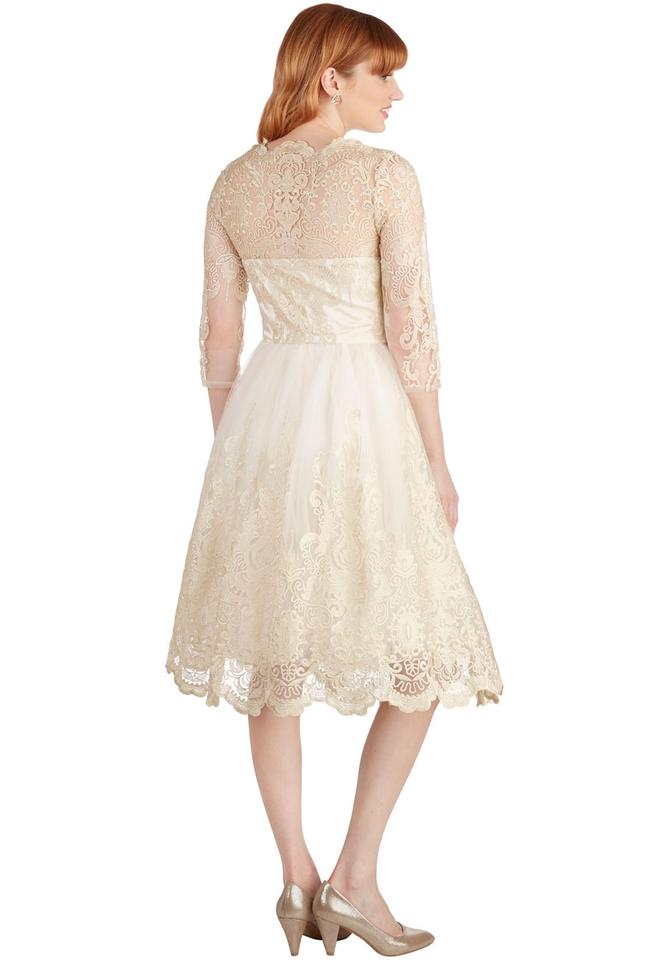 Chi Chi London Champagne Lace Tulle Gilded Grace Vintage Wedding ...