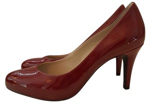 Franco Sarto Patent Leather Heels Red Pumps