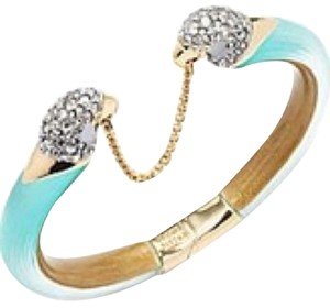 Alexis Bittar Alexis Bittar Turquoise Lucite Hinged Chain Bracelet New