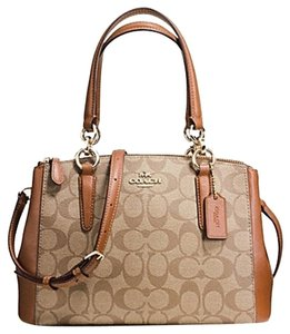Coach Madison 36718 Christie Carryall Satchel in KHAKI SADDLE Brown