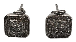 Savvy Cie Savvy Cie White Diamond Square Stud Earrings