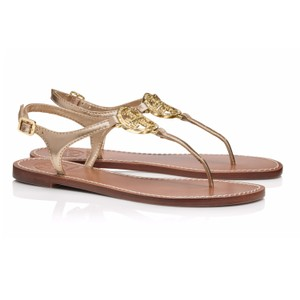 Tory Burch Violet Thong Platinum Sandals