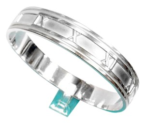 Tiffany & Co. Atlas Roman Numeral Sterling Italian Bangle Bracelet