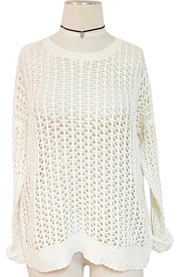 306044ff8 LF Holey Knitted Off White Sweater - Tradesy