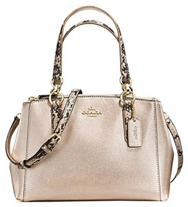 Coach Madison 36718 Christie Carryall Satchel in GOLD/PLATINUM