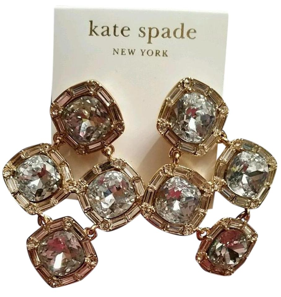 Kate spade gold tone clear crystal 14k fill chandelier drop new kate spade kate spade clear crystal 14k gold fill chandelier drop earrings new arubaitofo Images