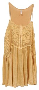 Free People Top Yellow, Gold, Orange