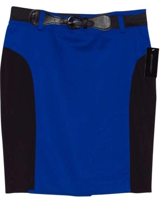 Preload https://img-static.tradesy.com/item/202125/89th-and-madison-blueblack-knee-length-skirt-size-10-m-31-0-0-650-650.jpg