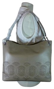 Tory Burch Leather Zoey Zoey Center-zip Tote in Gray