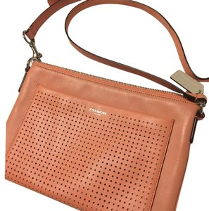 Coach Leather Perforated Cross Body Bag