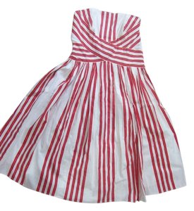 Anthropologie short dress Red and white on Tradesy