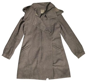 Mason Wool Gray Hood Warm Pea Coat