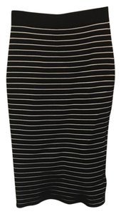 Jonathan Simkhai Knit Stretch High Waist Pencil Skirt Black, white