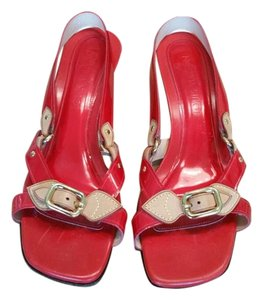 Louis Vuitton Patent Leather Red Sandals