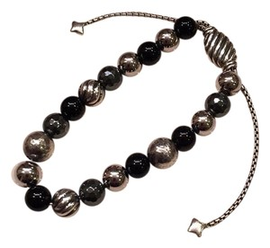 David Yurman DY Elements Bracelet With Black Onyx And Sterling Silver Beads