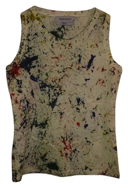 Item - Off-white Multi-color Splatter Tank Top/Cami Size 4 (S)