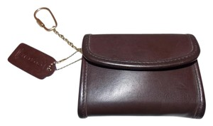 Coach COACH 'Coin Purse Wallet' ~Mahogany ~Brass W/ Keychain and Hang Tag