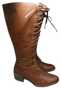 Børn Leather Lace BROWN Boots