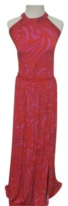 Red Maxi Dress by MICHAEL Michael Kors Cynthia Paisley Halter