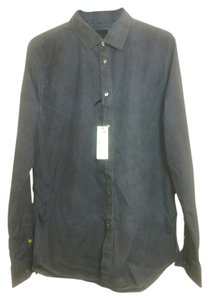 Sisley Button Down Shirt Denim Look