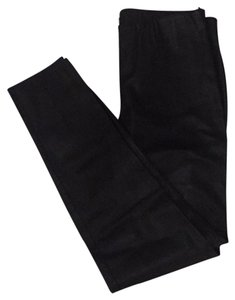 Zara Pleather Skinny Plush Skinny Pants Black