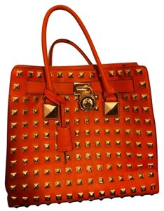 Michael Kors Studded Tote in Orange