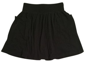 Heritage 1981 Black Short Casual Knit With Pockets Skirt